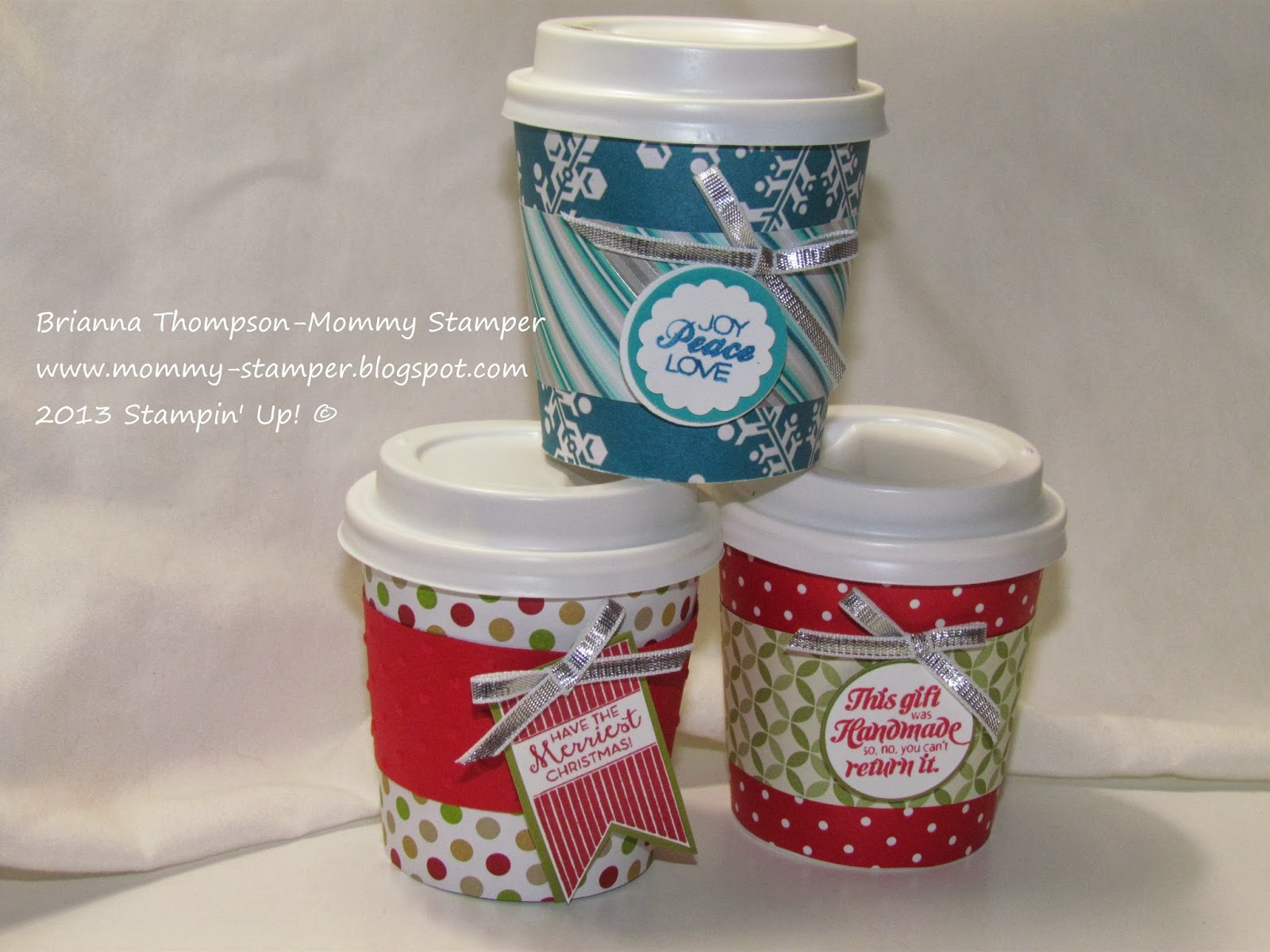 Mommy stamper 4 ounce christmas cups for Coffee crafts
