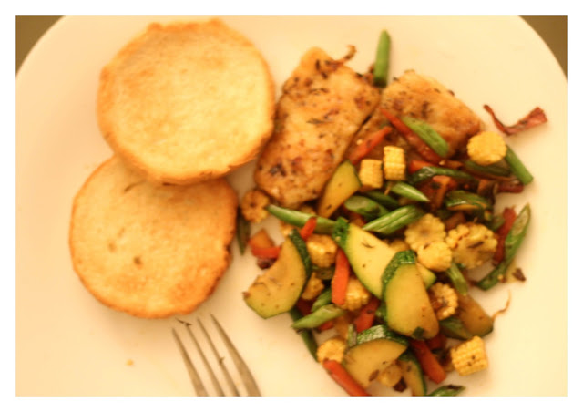 Communicating cooking grilled sole fish with vegetables for What vegetables go with fish