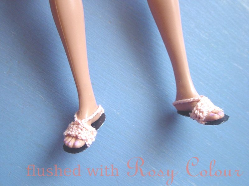 Flushed with Rosy Colour: How to make shoes for a flat-footed Barbie