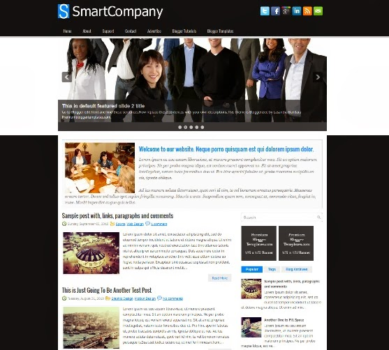 SmartCompany Blogger Template