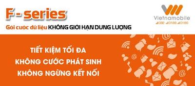 Đăng ký 3G Vietnamobile trọn gói không giới hạn F-Series