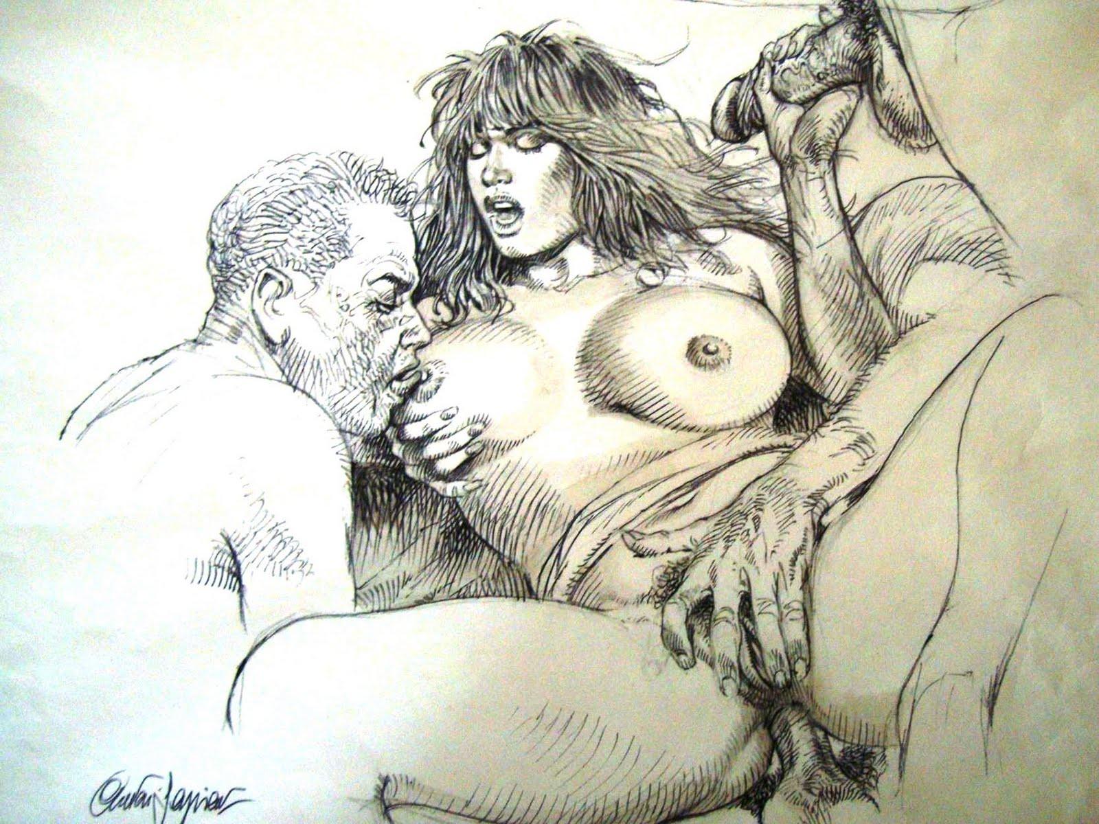 Порно рисунки от художников