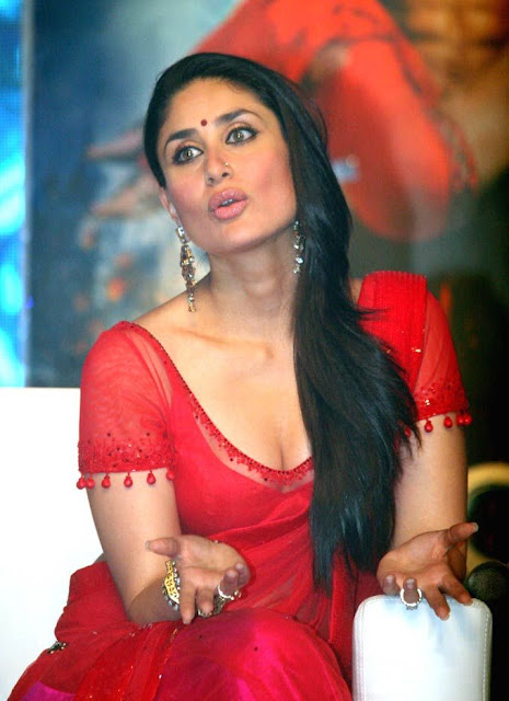 Actress Kareena Kapoor Hot Saree Blouse Photos