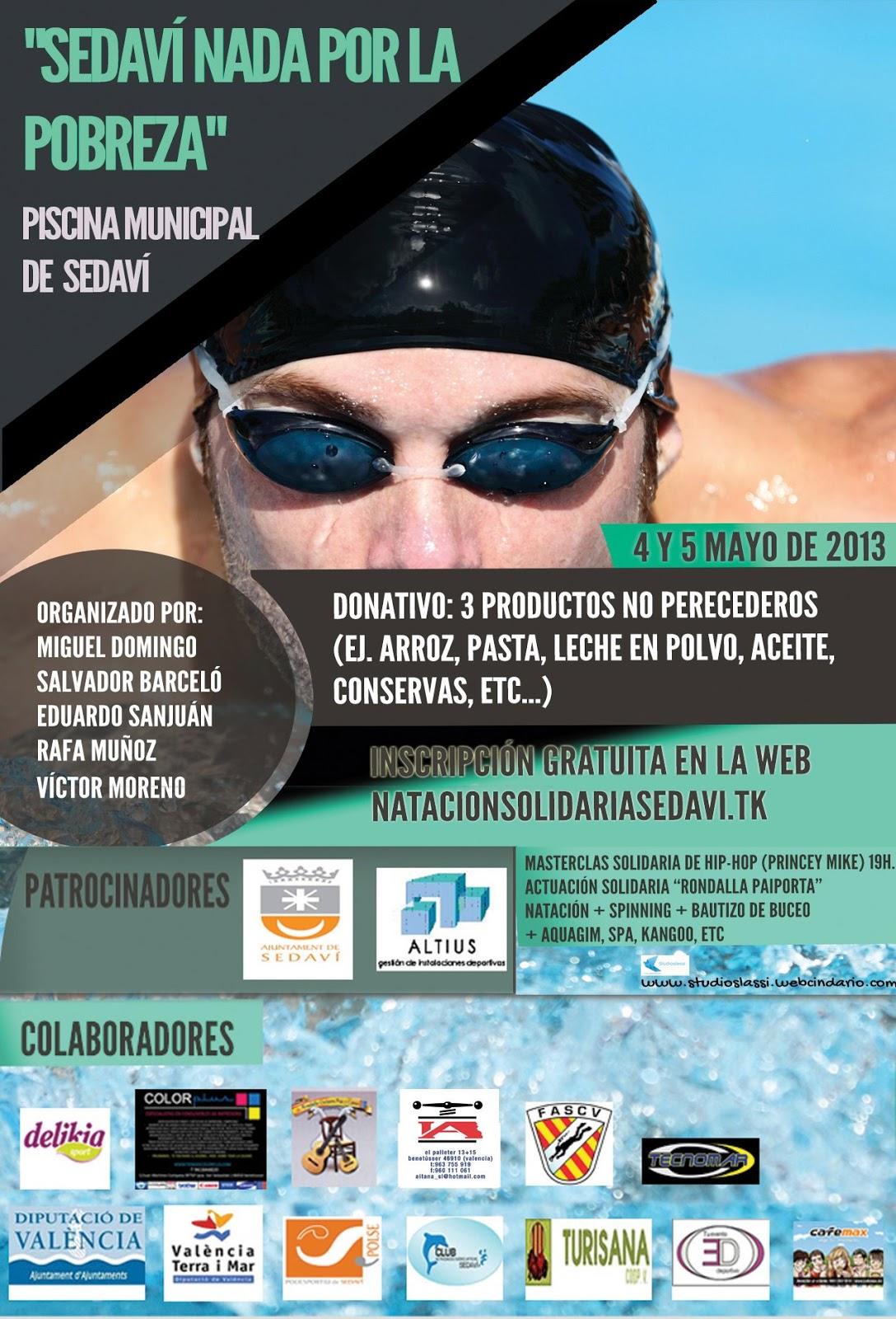 El rincon del nadador evento sedavi nada por la pobreza for Piscina sedavi
