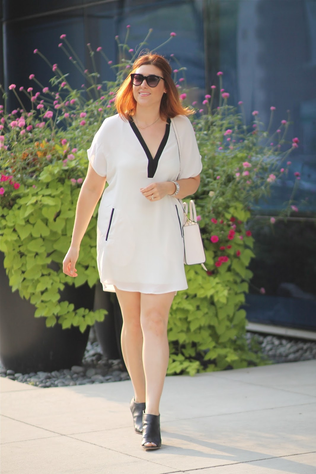 astr, white, crepe, shirtdress