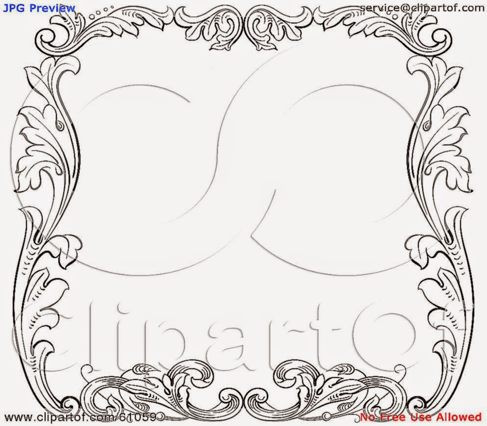 Royalty free RF Clipart Illustration of a Black And White Fl