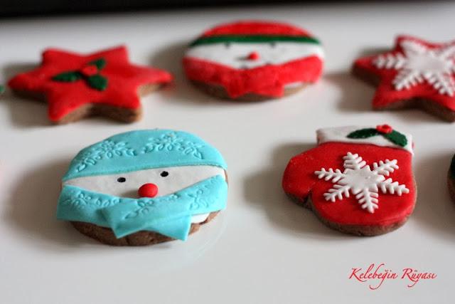 yılbaşı temalı kurabiye