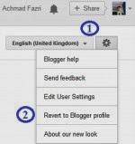 Cara mengembalikan Profile Blogger baru ke versi yang lama