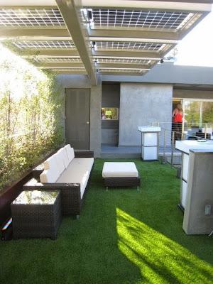 Energia fotovoltaica no jardim