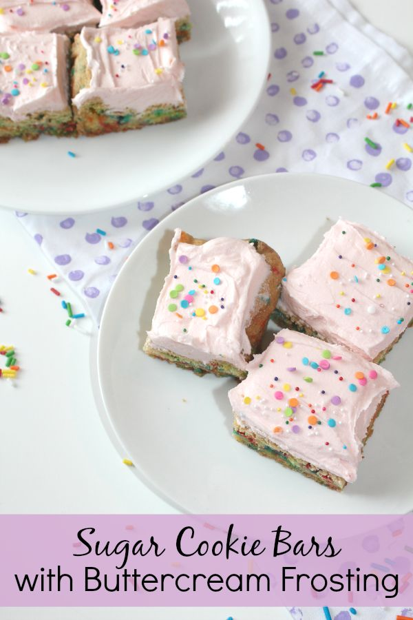 sugar cookie bars with buttercream frosting oatmeal cookie bars ...