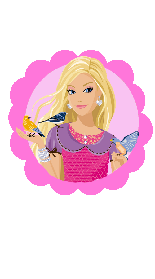 enfeite de mesa festa barbie