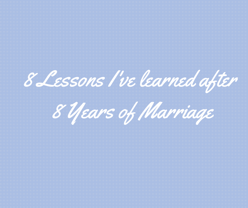 8 years of marriage