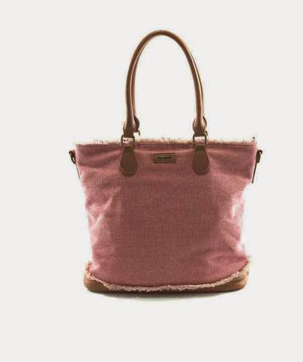 bolso de tela vaquera rosa