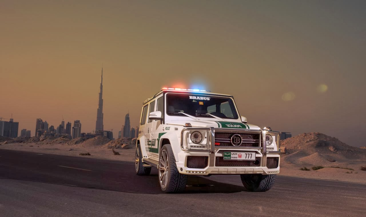 New suv for dubai police brabus mercedes g63 amg cars for Mercedes benz g wagon g63