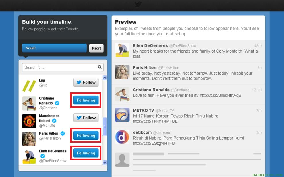 Cara follow orang lain cara membuat Twitter