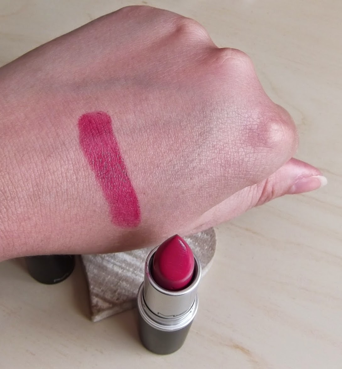MAC Girl about town amplified lipstick review swatches beauty blog
