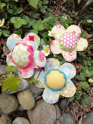 happy little flower pincushions