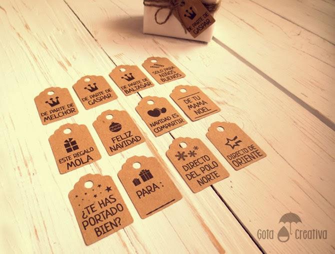 etiquetas navideñas Gota Creativa