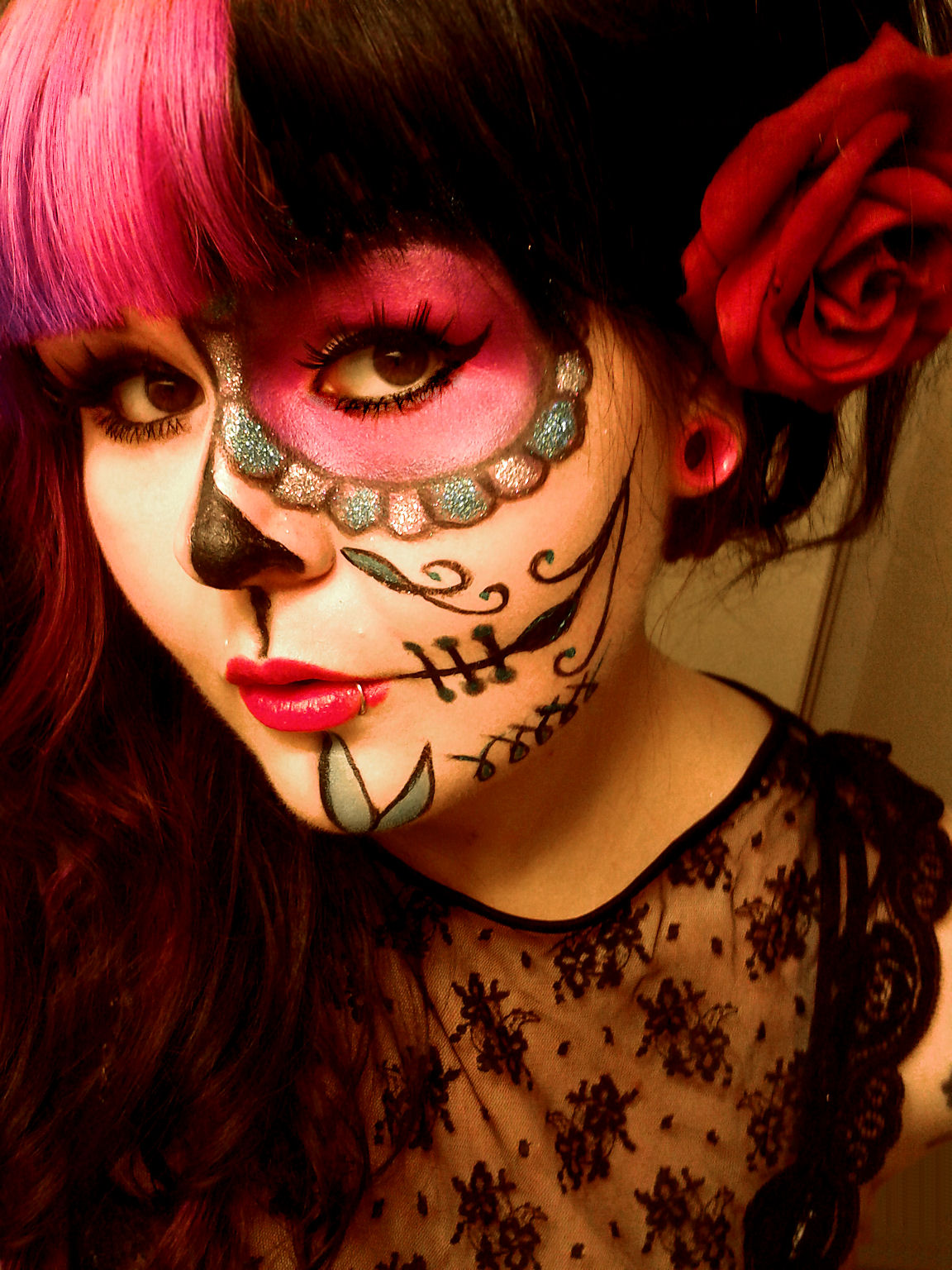 ... Makeup Addict): Day Of The Dead Sugar Skull MakeUp Tutorial And Look