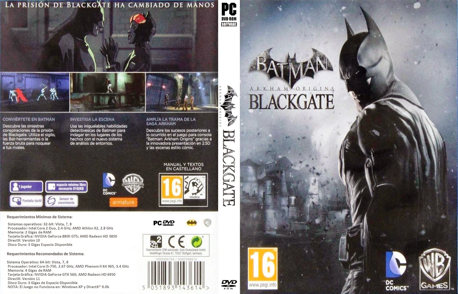 Capa Batman Arkham Origins Blackgate PC