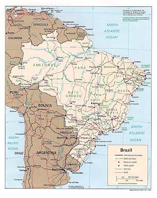 Brazil, Brasil, Mapa,Map, Political Map, Mapa Politico