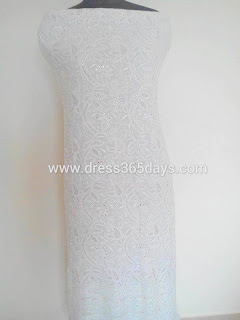 Unstitched Suit Piece in Chikankari Embroidery