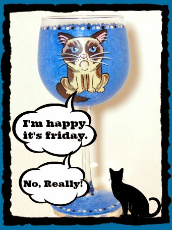 grumpy cat wine glass