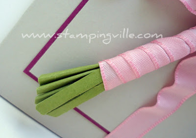 Flower Stems Created From Card Stock Paper