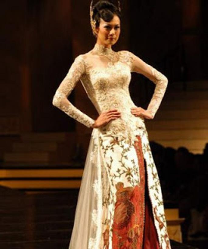 contoh desain model kebaya muslim modern terbaru wanita gambar gaun ...