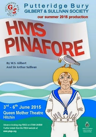 3 - 6 JUNE 2015: HMS PINAFORE