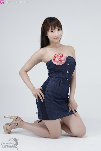 5 Yeon Da Bin in Blue Denim-Very cute asian girl - girlcute4u.blogspot.com