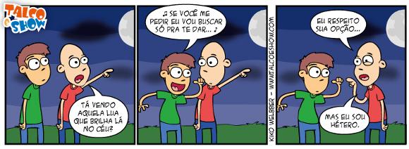 Tirinha do blog Talco e Show: Ta vendo aquela Lua?