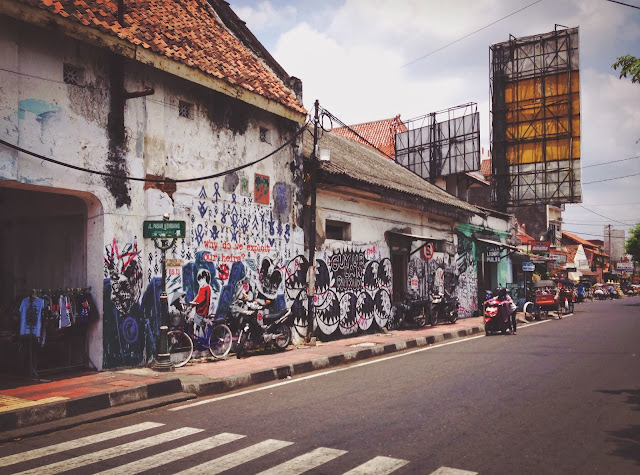 Street Art of Yogyakarta along Jalan Malioboro- Why do we exploit our heirs?