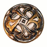 antique metal button, Reuzeit Emporium