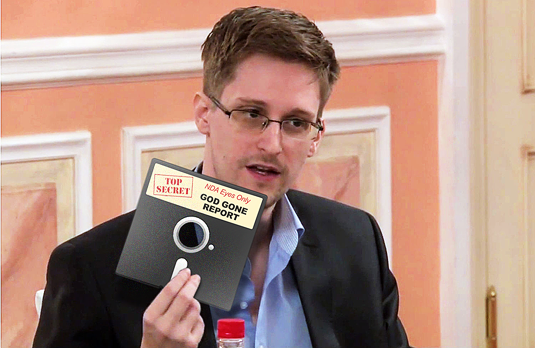 SNOWDEN RELEASE REPUDIATES GOD!