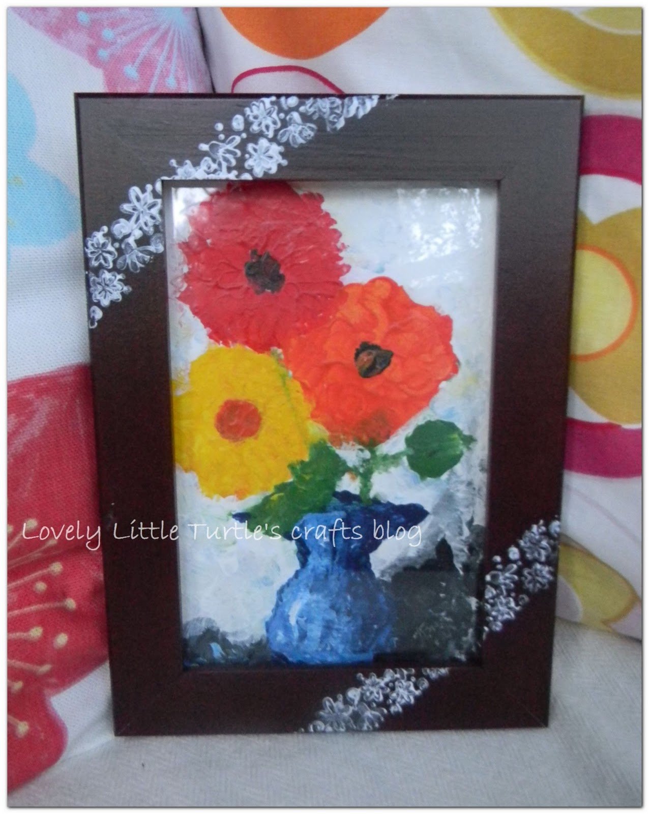 Easy and lovely hand decorated picture frame