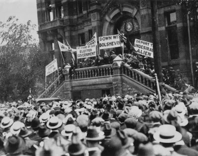 """a history of the winnipeg general strike in canada The winnipeg general strike of 1919 was a landmark moment in north american working-class history a capitalist labour market pitted """"british canadian"""" and """" immigrant"""" workers against each other the first world war heightened fears of the """"foreigners,"""" and the economic insecurity that faced returning."""