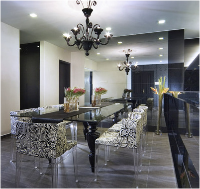 Modern dining room design ideas home decorating ideas - Black and silver dining room set designs ...