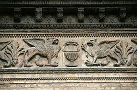 Fregio elemento decorativo architettonico di una scultura, pittura, struttura o un architrave