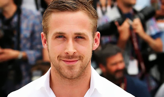 Ryan Gosling in white dress