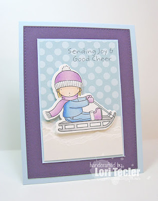 Sending Joy and Good Cheer card-designed by Lori Tecler/Inking Aloud-stamps and dies from My Favorite Things