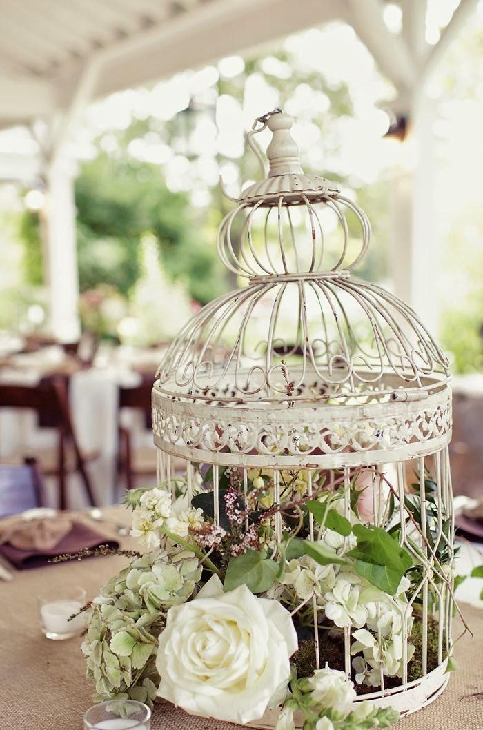 10 centros de mesa para bodas vintage for Decoracion con jaulas