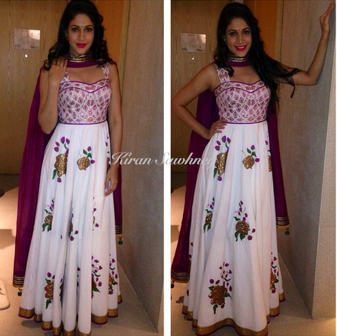 Telugu actress Lavanya in an outfit by Shilpa Reddy