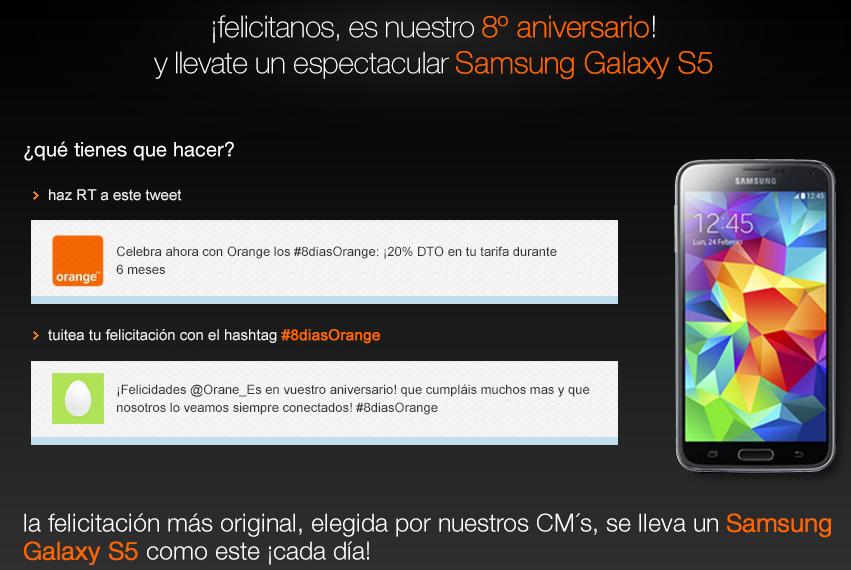 Durante 8 días podremos conseguir un Samsung Galaxy S5