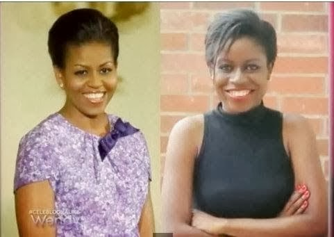 Nigerian Michelle Obama Look Alike Impersonators