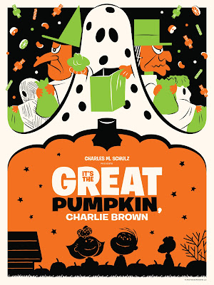 "Dark Hall Mansion - ""It's the Great Pumpkin, Charlie Brown"" Standard Edition Screen Print by Michael De Pippo"