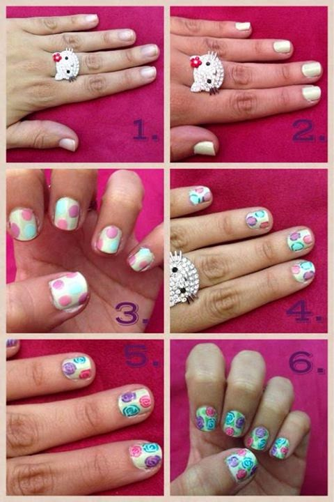 Nails Art Step By Step Tutorial #7.