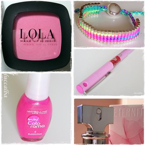 objetos rosas