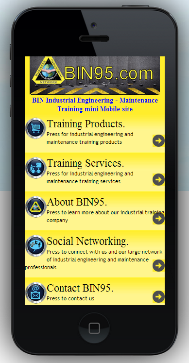 maintenance and engineering training mobile website