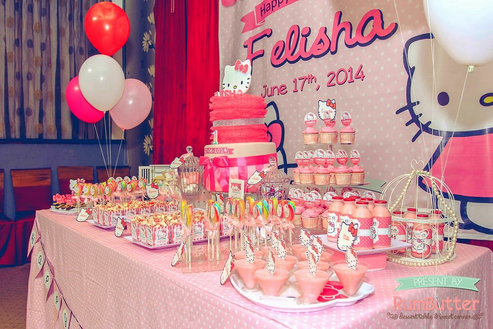 Rumbutter Sweet Corner Dessert Table Felishas 1st Birthday Sweet